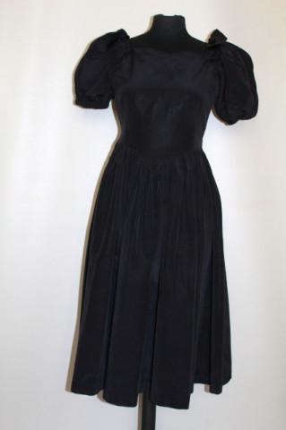 Rochie de ocazie vintage din grosgrain full skirt anii '60