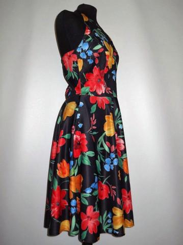 Rochie de plaja vintage print floral anii '70