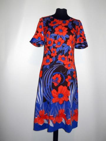 Rochie flori mari portocalii anii '60