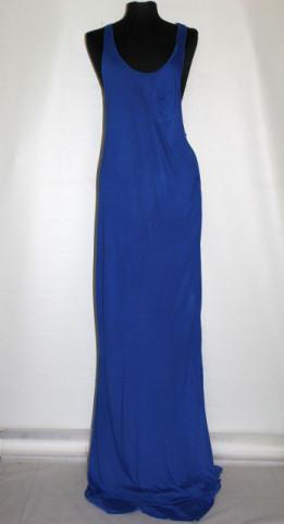 Rochie maxi albastru cerneală repro anii 70