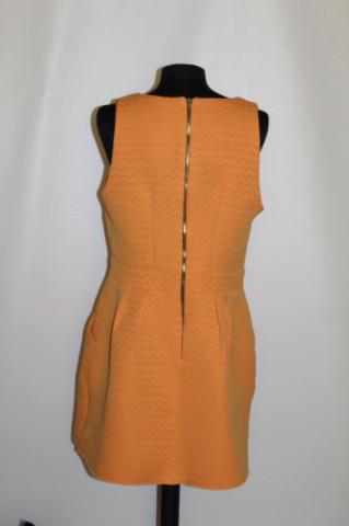 Rochie portocalie repro anii 60