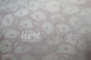 "Rochie print floral ""Rena Lange"" anii '70"