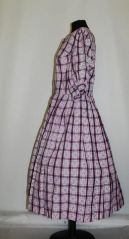 Rochie vintage din gingham roz anii '50