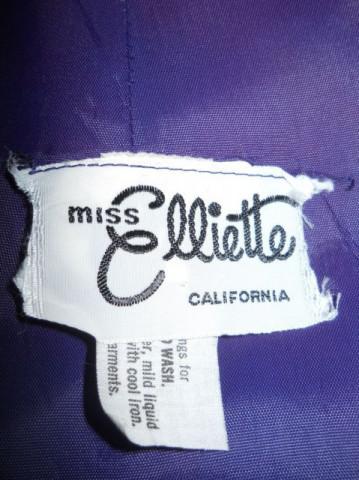 """Rochie vintage """"Miss Elliette of California"""" anii '70"""