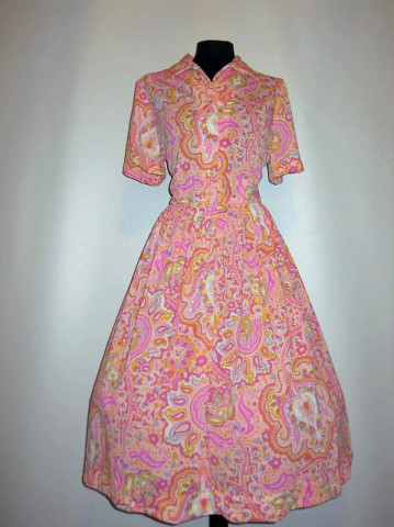 "Rochie vintage ""Pennypacker"" anii '50"