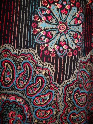 Rochie vintage print oriental anii '70