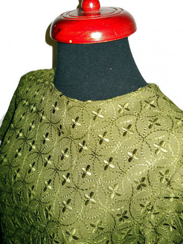 Rochie vintage verde feriga anii '60