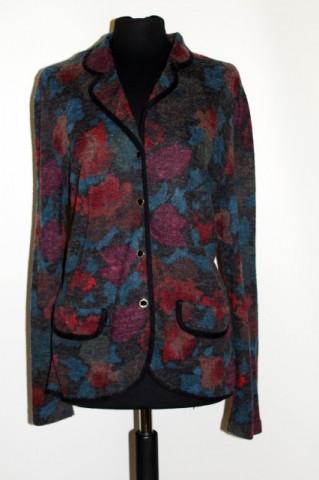 Cardigan retro print floral stilizat anii '80