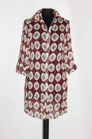 Camasa print floral stilizat anii '90