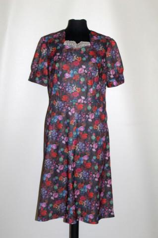 Rochie flori de câmp multicolore anii 60 - 70