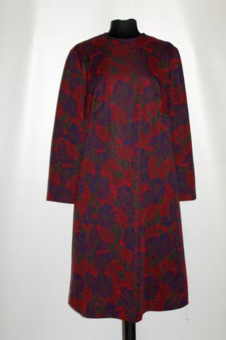 Rochie roșu cu albastru Trevira 2000 anii 60 - 70