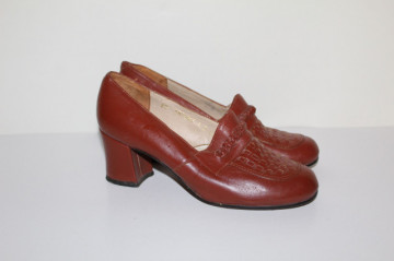 Pantofi maro roșcat Antilopa anii 70