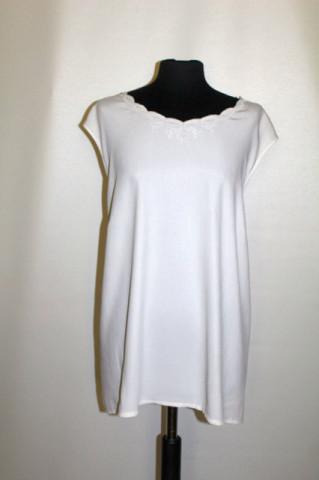Bluză albă din georgette anii 80 - 90