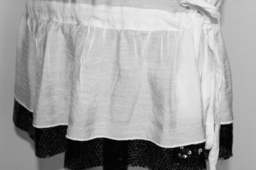 Bluza din organdi si paiete repro anii '70
