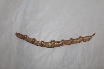 Bratara filigran placata cu aur anii '70