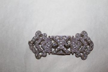 Brosa argintie cristale Art Deco anii '20