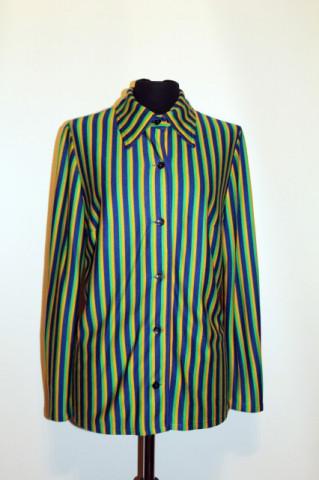Camasa vintage dungi galbene, verzi, albastre anii '70