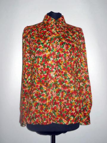 Camasa vintage flori caramizii anii '70