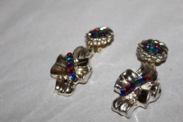 Cercei cristale colorate anii 80