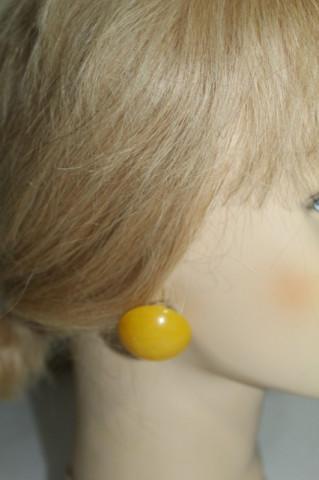 Cercei vintage galbeni anii 60