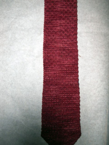 Cravata vintage din tricot anii '60