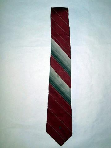 """Cravata vintage rosie dungi gri """"Pierre Cardin"""" anii '60"""