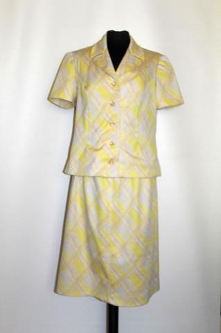 Deux pieces galben lămâie anii 60