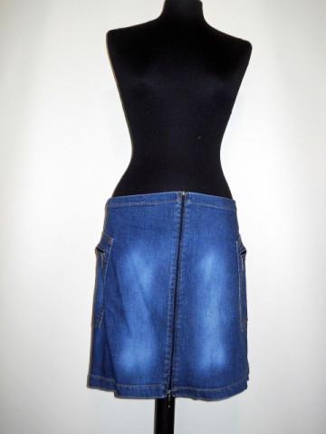 Fusta mini jeans repro anii '70