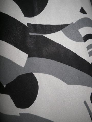 Fusta print geometric gri anii '90