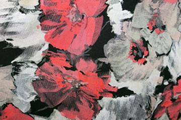 Fusta retro flori corai anii '80