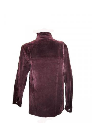 Haina de piele intoarsa violet pruna anii '70