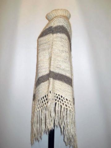 Poncho vintage din lana anii '70