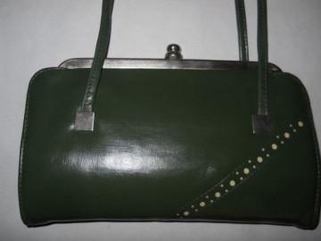 Poseta vintage verde muschi anii '70