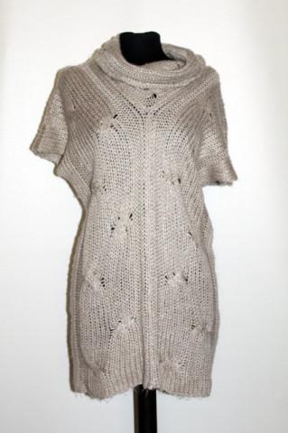 Pulover maneca scurta gri repro anii '70