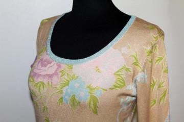 Pulover print floral pastel anii '90