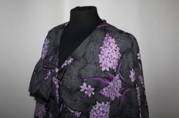 Rochie de seara buchete liliac anii '70
