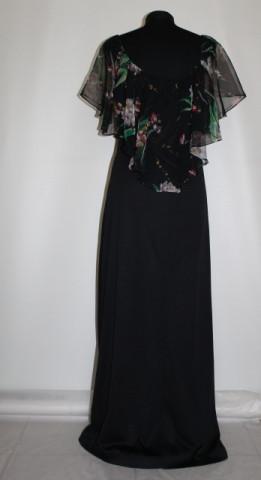 Rochie de seara vintage volane flori anii '70