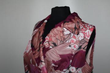 Rochie din chiffon print floral anii 60