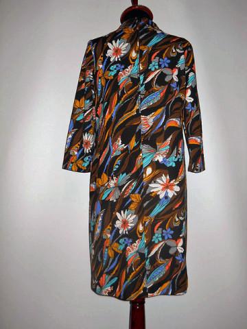Rochie din crepe cu flori anii '60