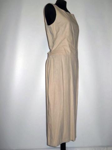 Rochie din in bej anii '80