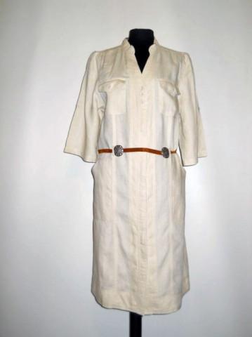 Rochie din in crem repro anii '70