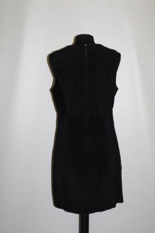 Rochie din piele intoarsa neagra repro anii '60