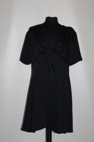 Rochie neagra de ocazie ornament suprapus anii '90