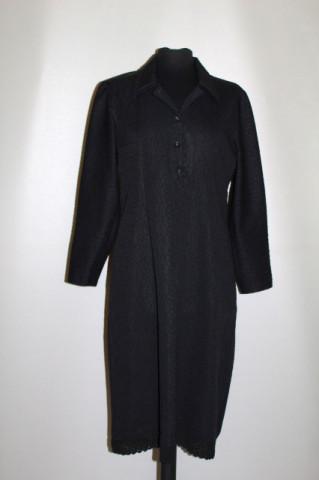 Rochie neagră model în relief anii 60