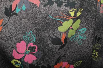 Rochie print punctiform și floral anii 70
