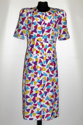 Rochie retro print triunghiuri anii '80