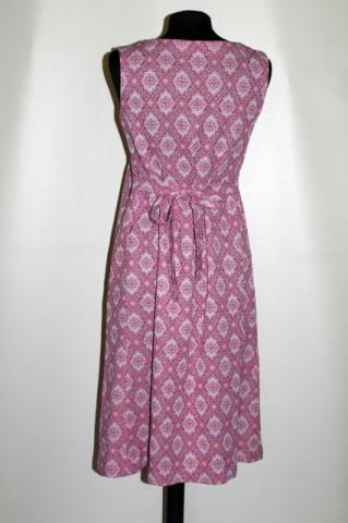 Rochie - sarafan vintage cu print geometric romboidal anii '70