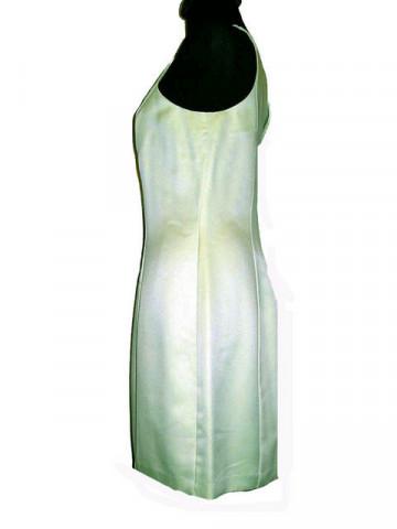 Rochie vintage de ocazie verde fistic anii '70