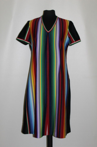 Rochie vintage dungi multicolore anii 70