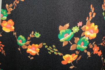 Rochie vintage flori portocalii și verzi anii 60-70